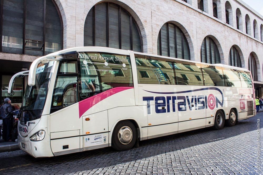 Из Фьюмичино в Рим на автобусе Terravision