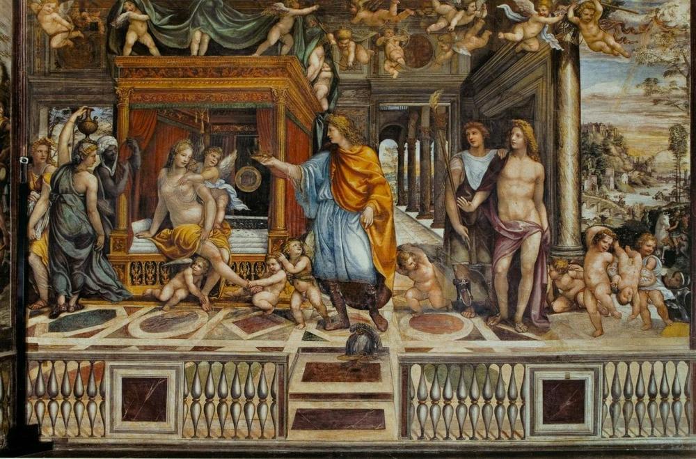 Фреска в честь Роксаны и Александра Великого