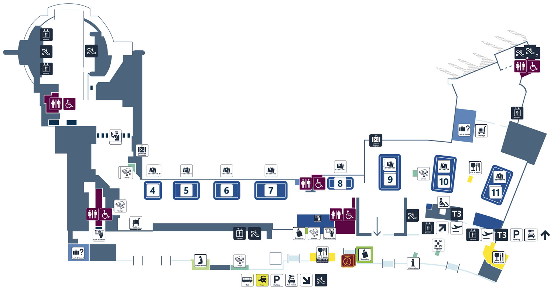 Аэропорт Фьюмичино. Терминал 3. Зона прилёта