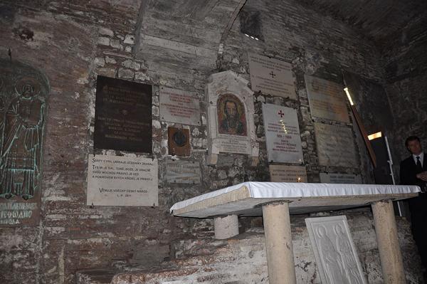 Захоронение святого Кирилла