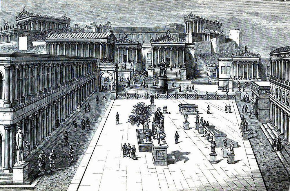 Так выглядел Римский Форум