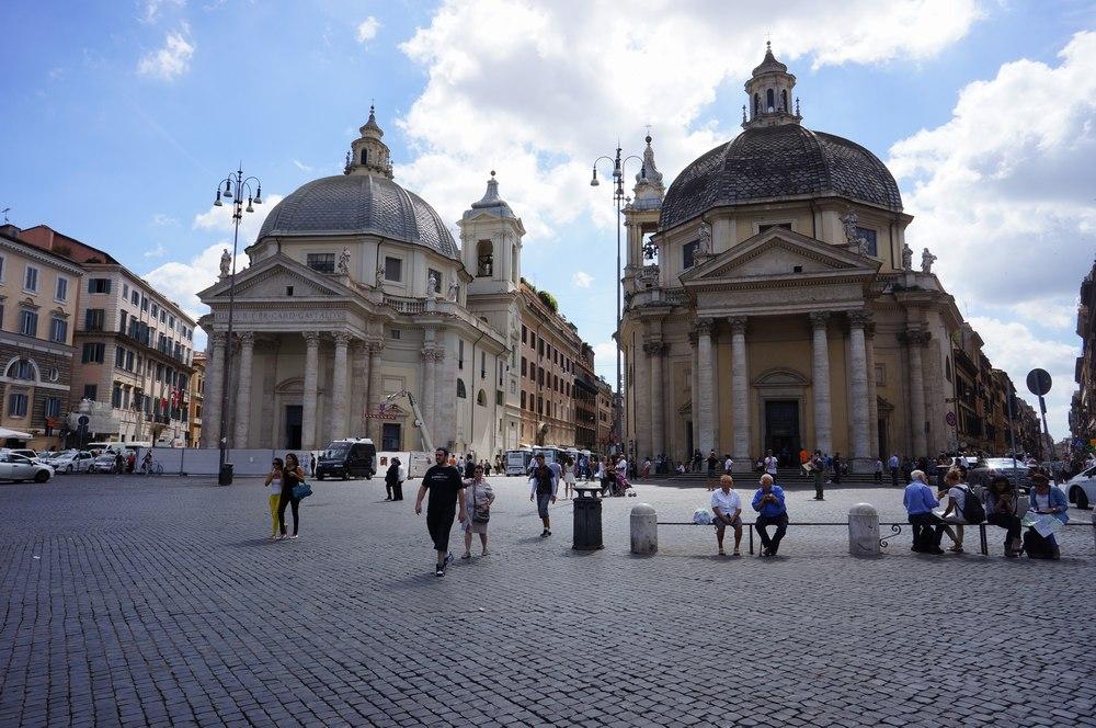 Площадь Пополо в Риме