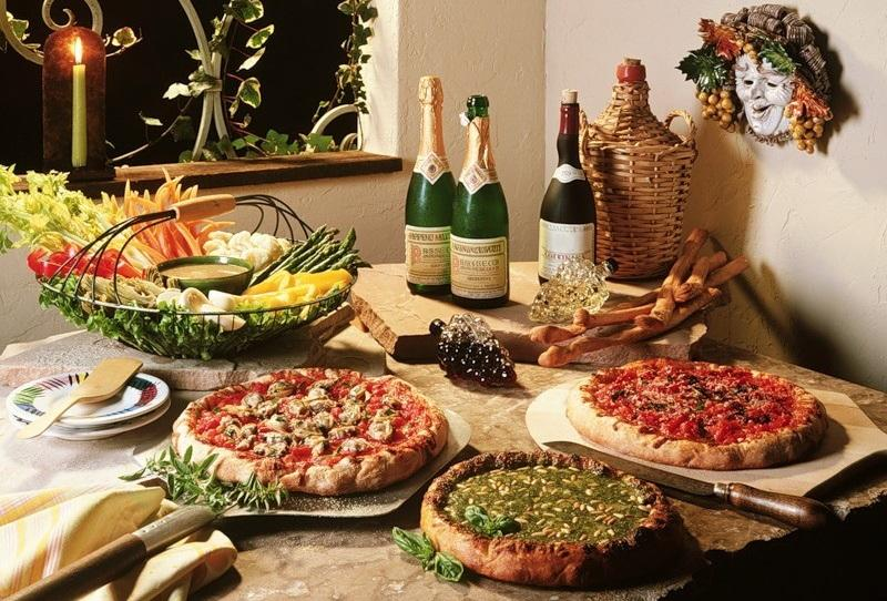 Новогодний стол у итальянцев