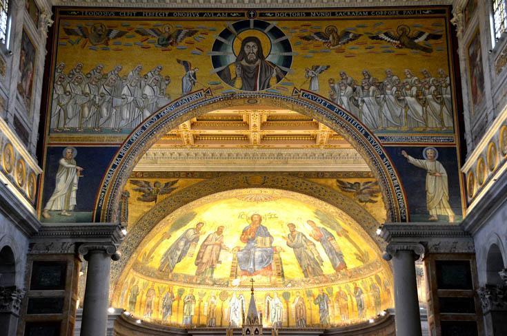 Изображение Иисуса в базилике