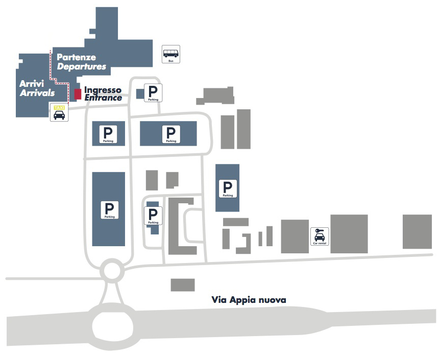Схема аэропорта Чампино