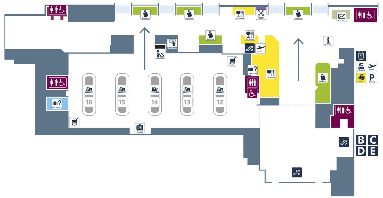 Аэропорт Фьюмичино. Терминал 1. Зона прилёта
