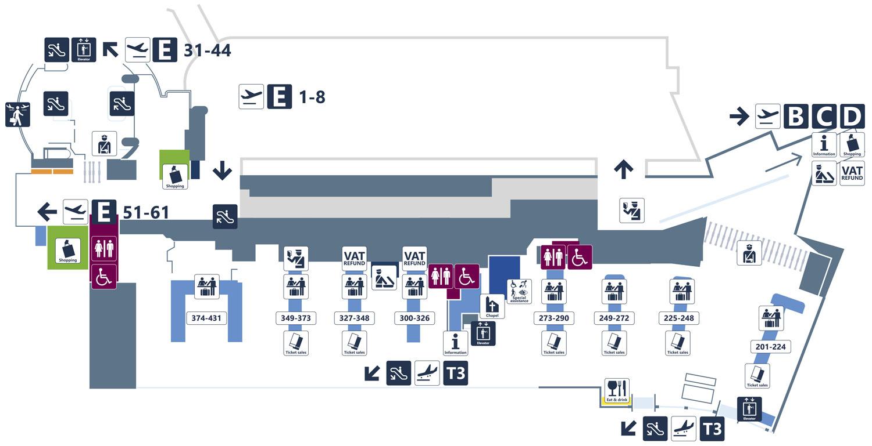 Аэропорт Фьюмичино. Терминал 3. Зона вылета