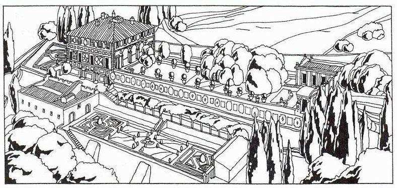 Архитектурный план Виллы Медичи