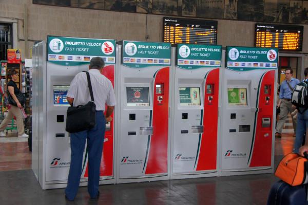 Покупка билетов в автоматах Biglietto Veloce