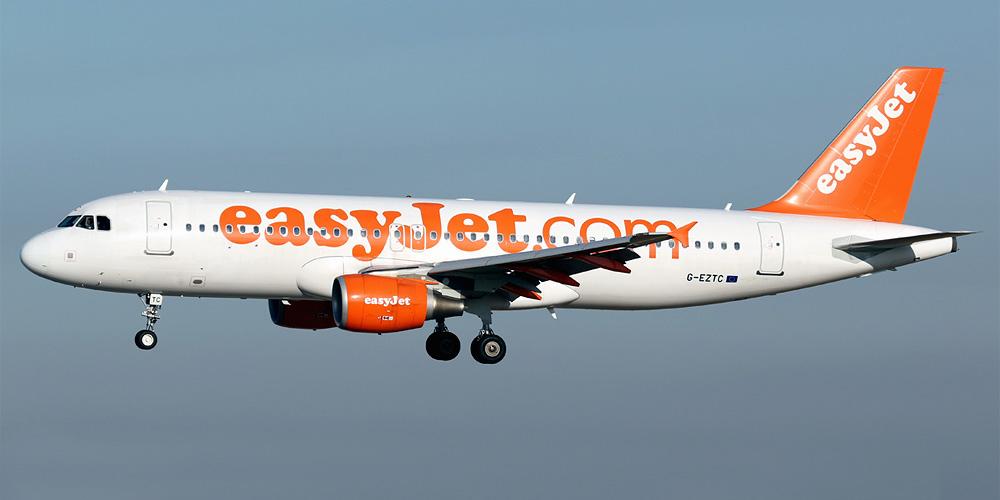 Самолёт авиакомпании EasyJet