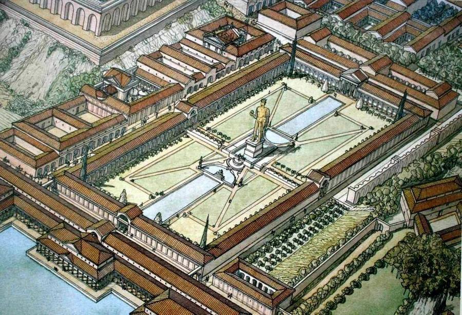 План резиденции Нерона