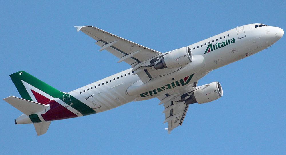 Воздушное судно компании Alitalia