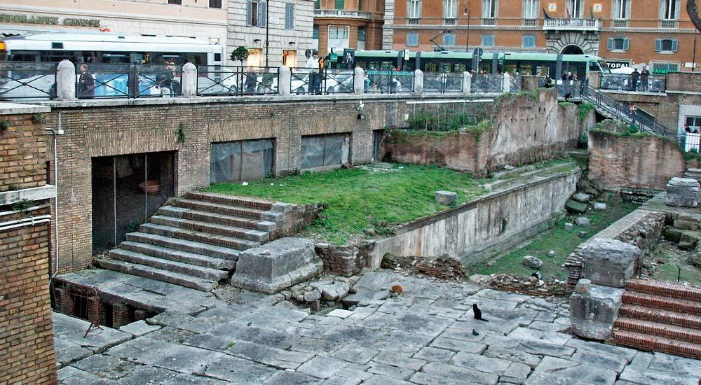 Остатки храма Лар Пермарини