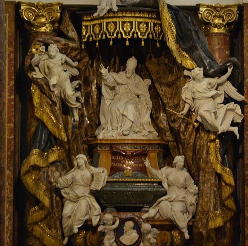 Надгробие Папы Григория XV и четыре статуи